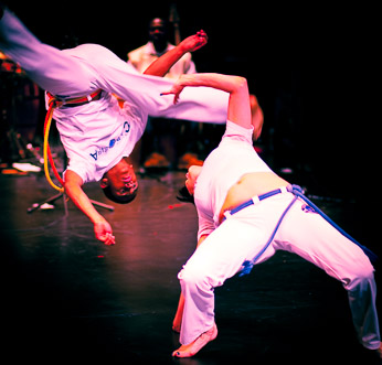 Rafael Newman and Hickyson Macedo of Capoeira Malȇs. Click for larger, uncropped version.