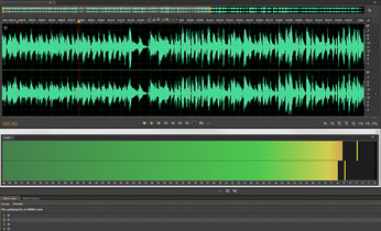 Screenshot of the Adobe Audition audio editor interface.