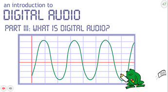 Screen shot from a presentation about digital audio
