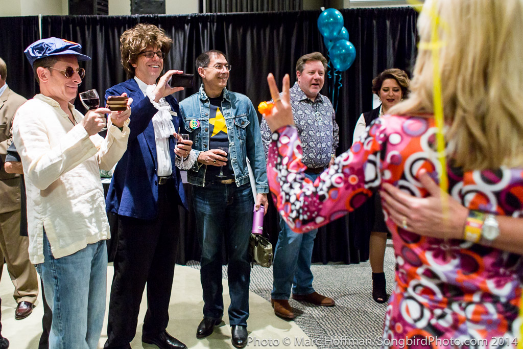 Love, Peace, and Flower Power reigned at the 2014 Kirkland Arts Center Annual Fundraiser.