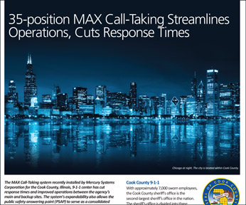 Zetron Case Study: Installation of MAX Call-Taking system for Cook County, Illinois. Click to view the case study as a PDF.