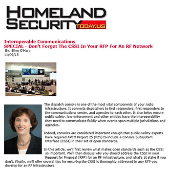 Zetron Corporation article for Homeland Security Magazine